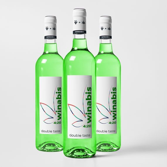 3 bottles - Winabis cannabis wine