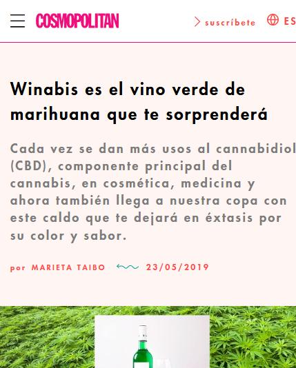 Winabis vino cannabico en los medios