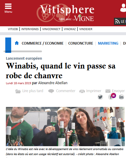 Winabis, vino cannábico ad Food.com